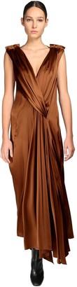 Petar Petrov Draped Silk Blend Long Dress