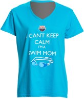 USA Swimming Women's Can't Keep Calm VNeck T-Shirt - 8147072