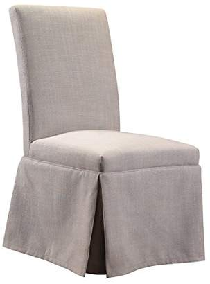 French Heritage Geraldine Slip Cover Side Chair with Bennett Oyster Fabric