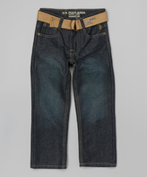 U.S. Polo Assn. Berkeley Wash Belted Straight-Leg Jeans - Boys