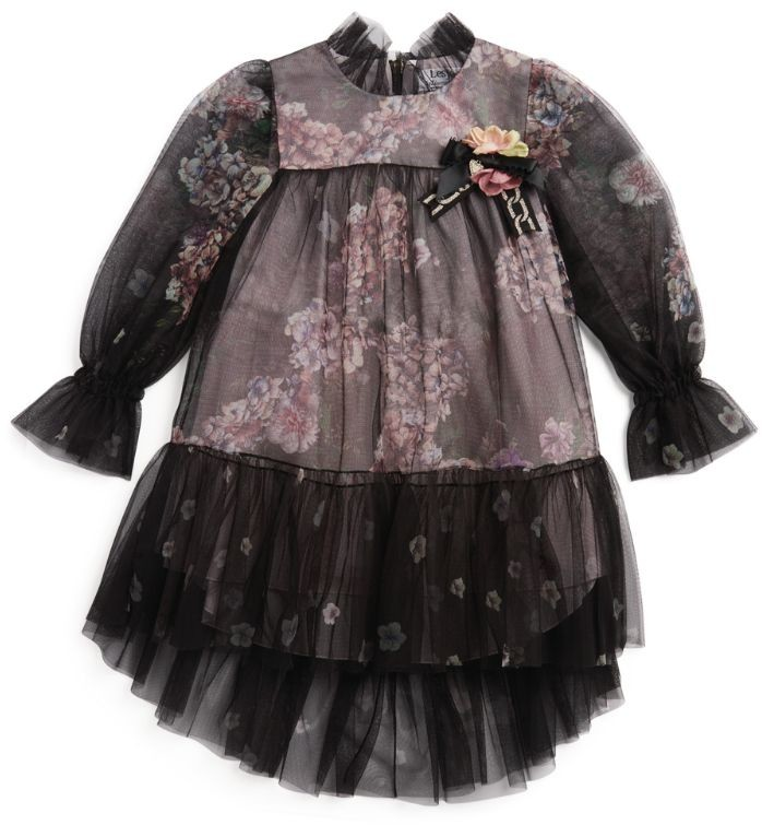 Lesy Floral Chiffon Dress (4-14 Years)