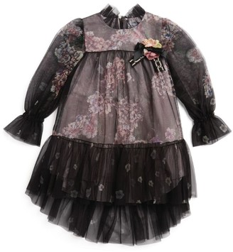 Lesy Floral Chiffon Dress (4-14 Years)