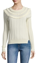 Marc Jacobs Pointelle Crewneck Wool Sweater