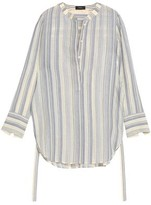 Theory Embroidered Cotton And Silk-Blend Gauze Tunic