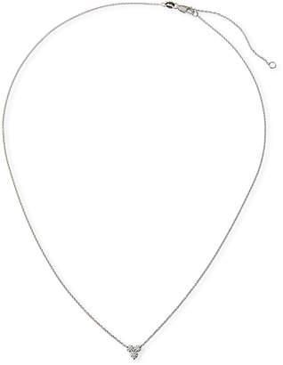 Roberto Coin 18k White Gold Diamond 3-Cluster Necklace