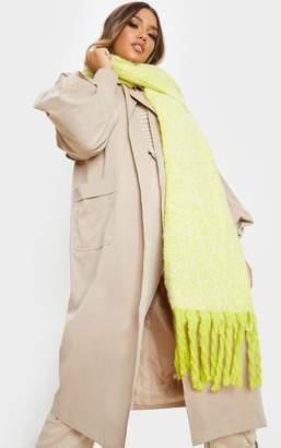 4fashion Neon Lime Super Soft Mini Blanket Scarf