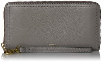 Fossil Logan Leather Zip Around Clutch Wallet