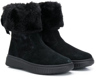 Geox Kids fur-trimmed snow boots