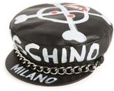 Moschino Women's Skulls Leather Cap - Black