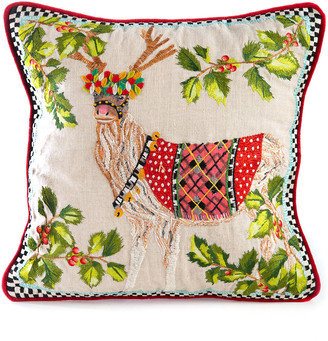 Mackenzie Childs Santa's Reindeer Pillow