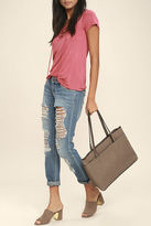 LuLu*s Can't Slow Down Taupe Tote