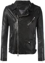 Giorgio Brato chest pocket biker jacket - men - Cotton/Leather/Nylon - 50