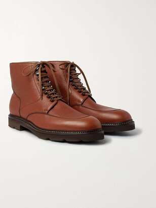 John Lobb Helston Pebble-Grain Leather Boots