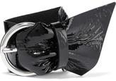 Isabel Marant Buckled Patent-leather Bracelet - Black