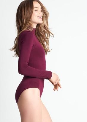 Yummie Madelyn Mock Neck Shaping Full Back Bodysuit