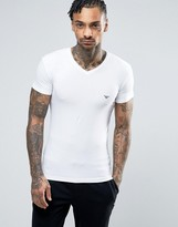 Emporio Armani Logo V-neck T-shirt In Muscle Fit