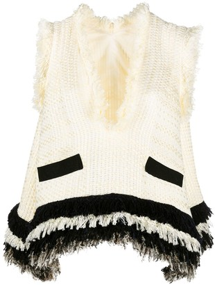 Sacai Relaxed Chunky Knit Vest