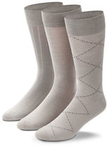 Black Brown 1826 3-Pack Fancy Bamboo Cotton Socks