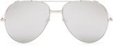 Linda Farrow White-gold plated aviator sunglasses