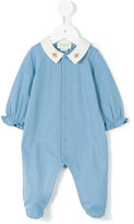 Gucci Kids - bee embroidery pyjamas - kids - Cotton - 3 mth