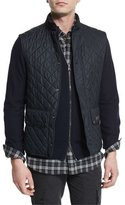 Belstaff Lightweight Quilted Tech Vest, Dark Navy