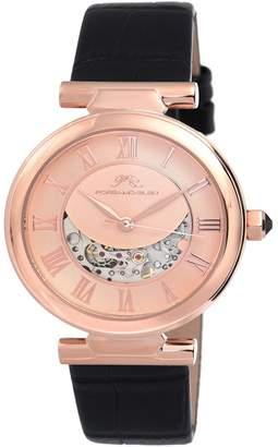 Porsamo Bleu Women's Coco Automatic Leather Watch, 36mm