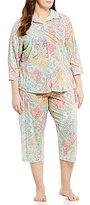 Lauren Ralph Lauren Plus Patchwork Paisley Pajamas