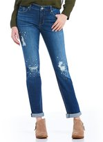 Miraclebody Jeans Perfect Boyfriend Bling Destruction Detail Jeans