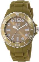 Haurex Italy Men's SV382UV3 Reef Luminous Water Resistant Khaki Green Soft Rubber Watch