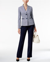 Le Suit Houndstooth Colorblocked Pantsuit
