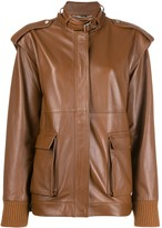 Alberta Ferretti structured shoulders jacket