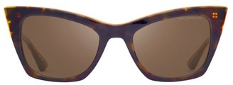 Dita Eyewear Showgoer 50MM Havana Cat Eye Sunglasses