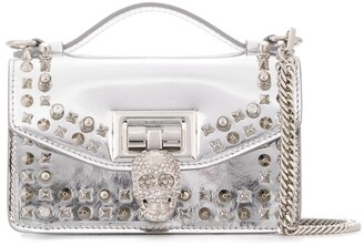 Philipp Plein studded top handle shoulder bag