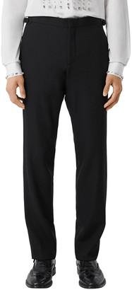 Burberry Men's Solid Wool Tuxedo Pants