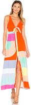 Mara Hoffman Tie Front Midi Dress in Orange. - size 0 (also in 4)