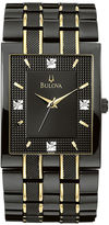 Bulova Men's Black IP Diamond Accent Watch