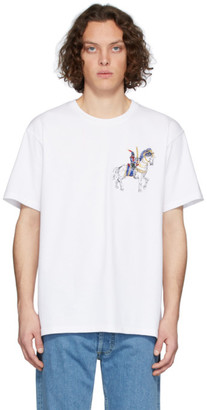 J.W.Anderson White Camelot Embroidery T-Shirt