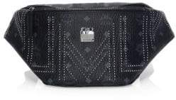 MCM Men's Medium Stark Gunta Studs Belt Bag - Black