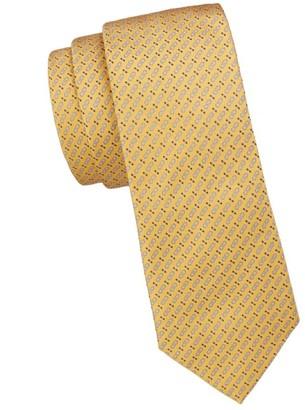 Salvatore Ferragamo Gancini Double Print Silk Tie