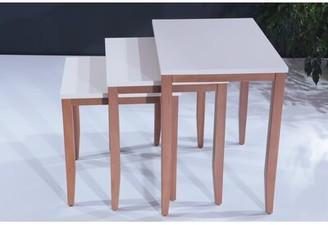 Canora Grey Osseo Lightweight Stackable Rectangular 3 Piece Nesting Tables
