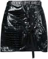 Self-Portrait laced front mini skirt