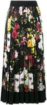 Dolce & Gabbana high waist floral print pleated skirt
