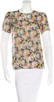 Band Of Outsiders Floral-Print Silk Top