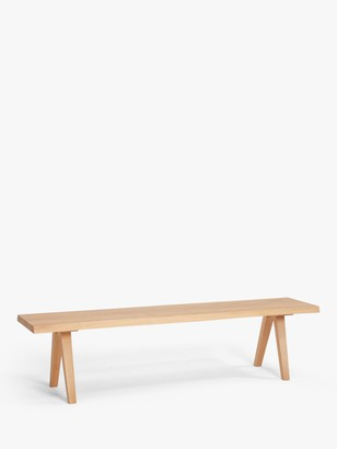 John Lewis & Partners Lorn 4 Seater Dining Bench, Oak