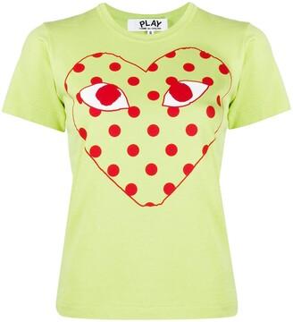 Comme des Garcons polk-dot heat print T-shirt