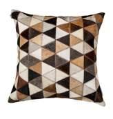 Torino Mosaik Genuine Cowhide Pillow - 18 x 18 - Tricolor