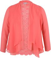 House of Fraser Chesca Plus Size Chiffon Shrug with Lace Back