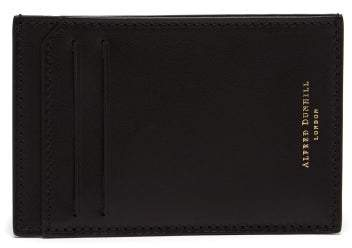 Dunhill Duke Leather Cardholder - Mens - Black