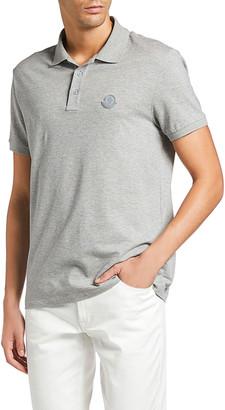 Moncler Men's Heathered Polo Shirt