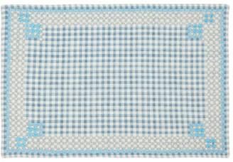 D'Ascoli Set Of Four Ionna Gingham Linen-blend Placemats - Blue Print